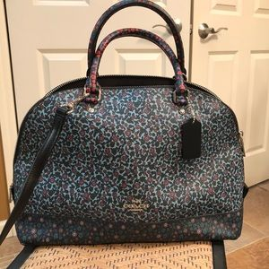Floral Coach Satchel with crossbody straps